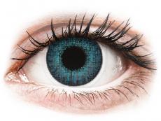 Modré kontaktné šošovky - nedioptrické - Air Optix Colors - Brilliant Blue - nedioptrické (2šošovky)