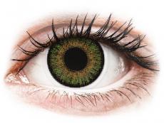 Nedioptrické farebné šošovky - FreshLook One Day Color Green - nedioptrické (10 šošoviek)