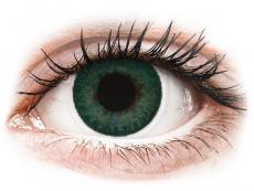 Farebné kontaktné šošovky - FreshLook Dimensions Carribean Aqua - nedioptrické (2 šošovky)