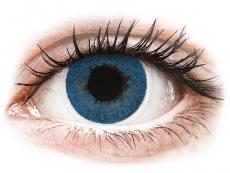 Farebné kontaktné šošovky - FreshLook Dimensions Pacific Blue - nedioptrické (2 šošovky)