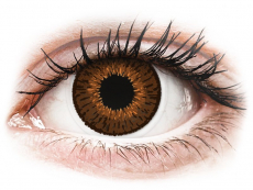 Farebné kontaktné šošovky - Expressions Colors Brown - dioptrické (1 šošovka)