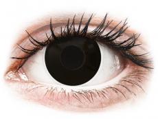 Čierne kontaktné šošovky - nedioptrické - ColourVUE Crazy Lens - Blackout - jednodenné nedioptrické (2 šošovky)