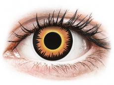 Jednodenné kontaktné šošovky - ColourVUE Crazy Lens - Orange Werewolf - jednodenné nedioptrické (2 šošovky)