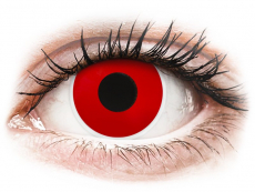 Crazy farebné šošovky - nedioptrické - ColourVUE Crazy Lens - Red Devil - jednodenné nedioptrické (2 šošovky)