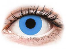 Jednodenné kontaktné šošovky - ColourVUE Crazy Lens - Sky Blue - jednodenné nedioptrické (2 šošovky)
