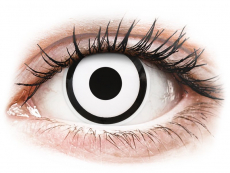 Crazy farebné šošovky - nedioptrické - ColourVUE Crazy Lens - White Zombie - jednodenné nedioptrické (2 šošovky)