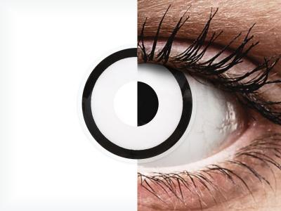 ColourVUE Crazy Lens - White Zombie - jednodenné nedioptrické (2 šošovky)