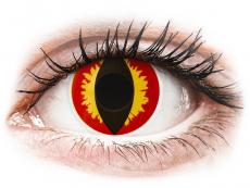 Červené kontaktné šošovky - nedioptrické - ColourVUE Crazy Lens - Dragon Eyes - jednodenné nedioptrické (2 šošovky)