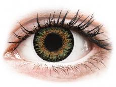 Hnedé kontaktné šošovky - dioptrické - ColourVue One Day TruBlends Green - dioptrické (10 šošoviek)