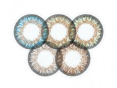 Zelené kontaktné šošovky - nedioptrické - ColourVue One Day TruBlends Rainbow 1 - nedioptrické (10 šošoviek)
