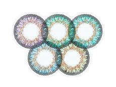 Zelené kontaktné šošovky - nedioptrické - ColourVue One Day TruBlends Rainbow 2 - nedioptrické (10 šošoviek)