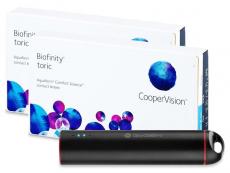 Torické (astigmatické) kontaktné šošovky - Biofinity Toric (2x3 šošovky) + powerbanka ZADARMO