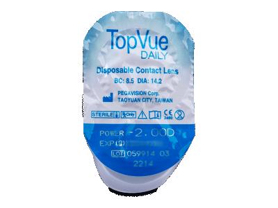TopVue Daily (10párovšošoviek) - Vzhľad blistra so šošovkou