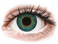 Zelené kontaktné šošovky - nedioptrické - Air Optix Colors - Turquoise - nedioptrické (2 šošovky)