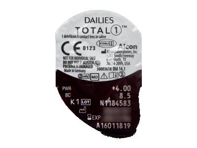 Dailies TOTAL1 (90šošoviek) - Vzhľad blistra so šošovkou