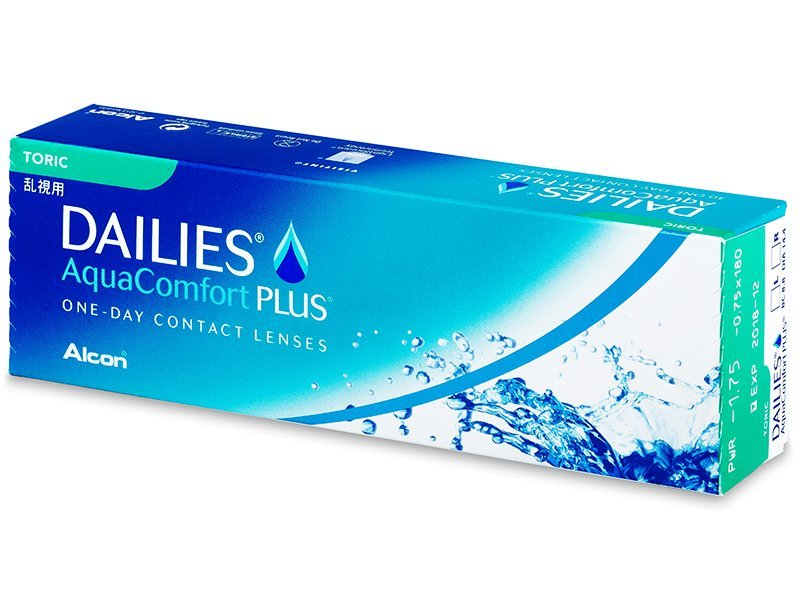 Dailies AquaComfort Plus Toric (30šošoviek) - Torické kontaktné šošovky - Alcon