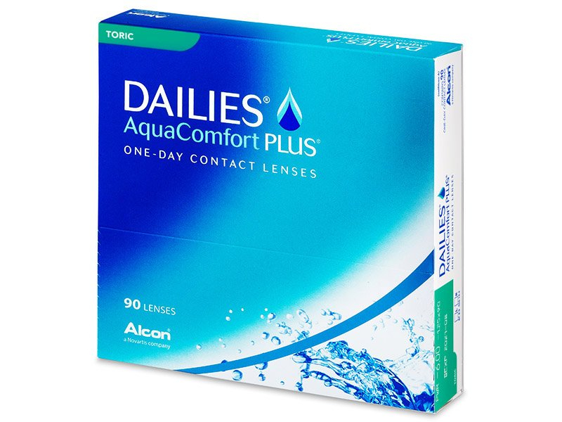 Torické kontaktné šošovky - Dailies AquaComfort Plus Toric (90šošoviek)