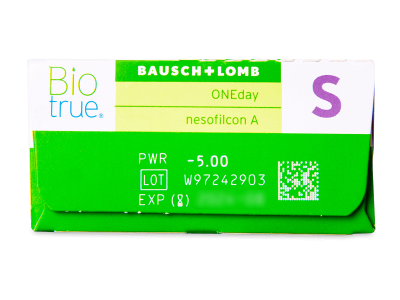 Biotrue ONEday (30šošoviek) - Náhľad parametrov šošoviek