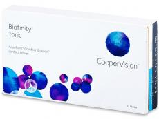 Mesačné kontaktné šošovky - Biofinity Toric (6šošoviek)
