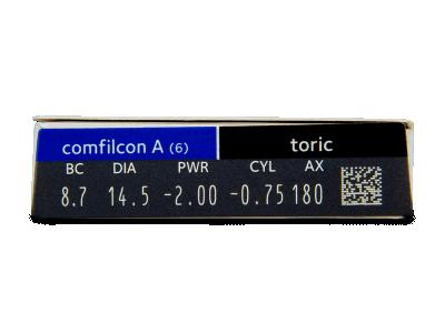 Biofinity Toric (6šošoviek) - Náhľad parametrov šošoviek