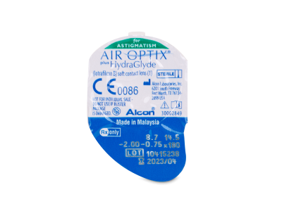 Air Optix plus HydraGlyde for Astigmatism (6 šošoviek)