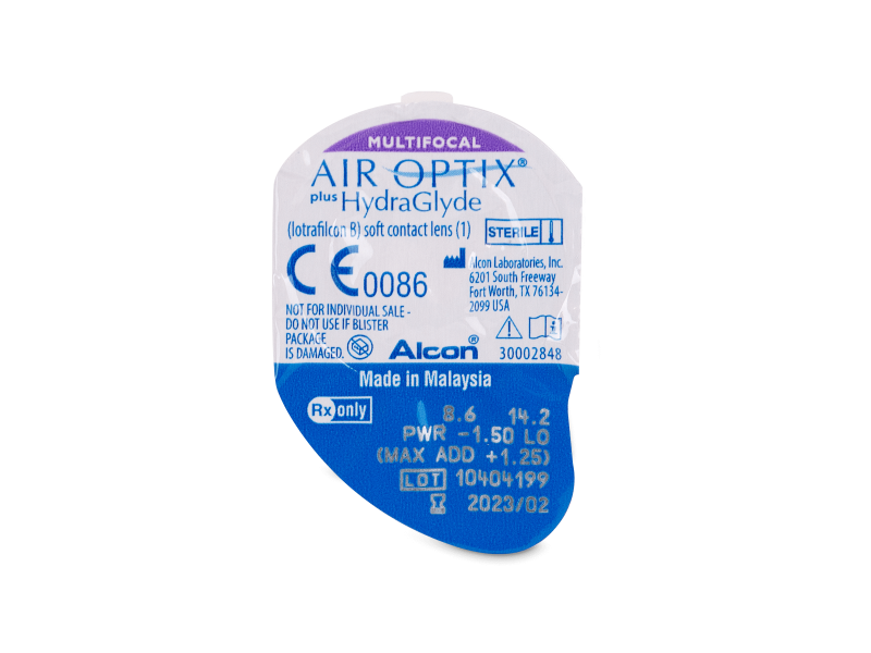 Air Optix plus HydraGlyde Multifocal (6 šošoviek)