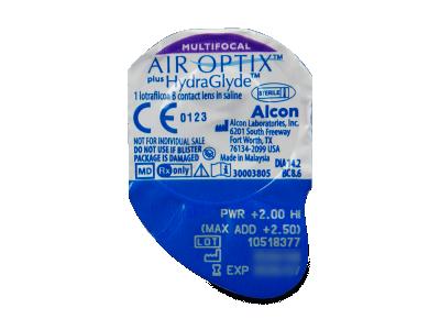 Air Optix plus HydraGlyde Multifocal (6šošoviek) - Vzhľad blistra so šošovkou