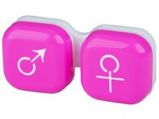 Príslušenstvo - Puzdro na šošovky muž a žena - ružové