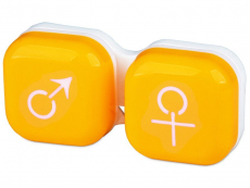 Príslušenstvo - Puzdro na šošovky muž a žena - žlté
