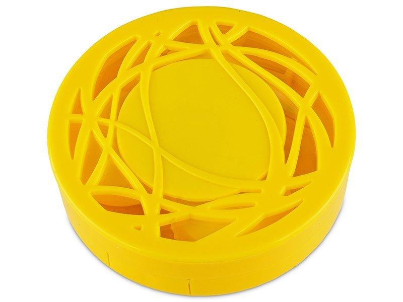 Kazeta s ornamentom - žltá