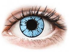 Modré kontaktné šošovky - nedioptrické - ColourVUE Crazy Lens - Blizzard - nedioptrické (2šošovky)
