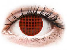 Červené kontaktné šošovky - nedioptrické - ColourVUE Crazy Lens - Red Screen - nedioptrické (2šošovky)