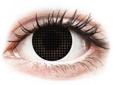 Čierne kontaktné šošovky - nedioptrické - ColourVUE Crazy Lens - Black Screen - nedioptrické (2šošovky)