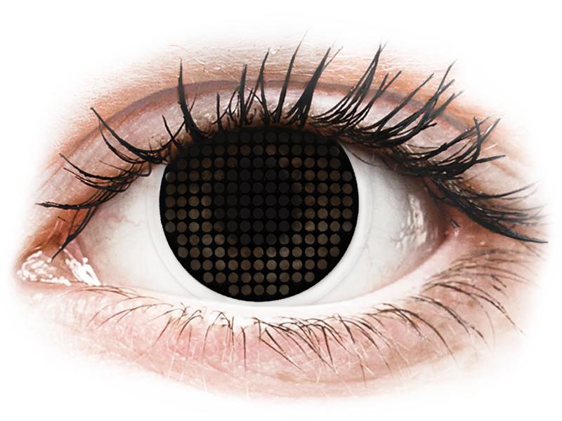 ColourVUE Crazy Lens - Black Screen - nedioptrické (2šošovky)