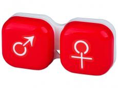 Príslušenstvo - Puzdro na šošovky muž a žena - červené