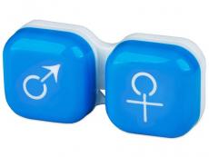 Príslušenstvo - Puzdro na šošovky muž a žena - modré