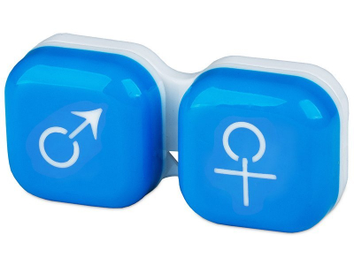 Puzdro na šošovky muž a žena - modré