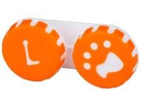Puzdro na šošovky Labka - oranžové