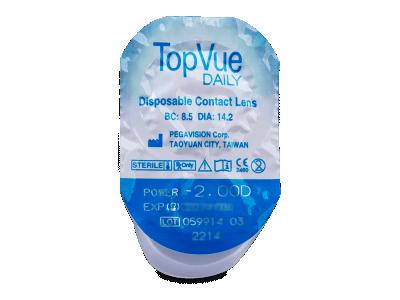 TopVue Daily (10šošoviek) - Vzhľad blistra so šošovkou