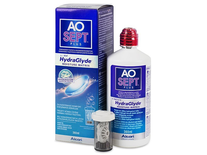 AO SEPT PLUS HydraGlyde 360 ml  - Čistiaci roztok - Alcon