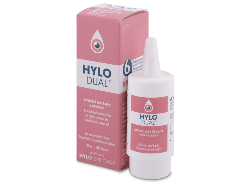 Očné kvapky - Očné kvapky Hylo DUAL 10 ml