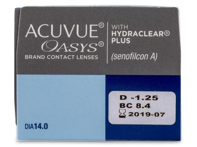 Acuvue Oasys (24 šošoviek) - Náhľad parametrov šošoviek