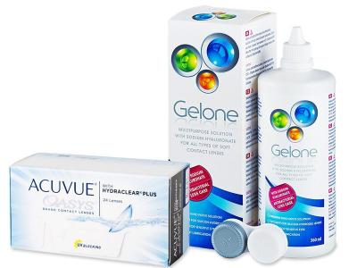 Acuvue Oasys (24 šošoviek) + roztok Gelone 360 ml