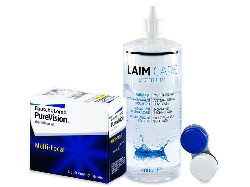PureVision Multi-Focal (6šošoviek) + roztok Laim-Care400ml - Výhodný balíček
