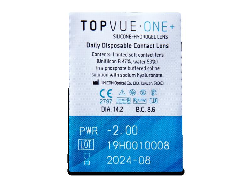 TopVue One+ (5 šošoviek) - Vzhľad blistra so šošovkou