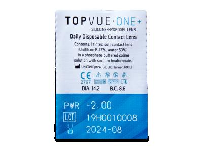 TopVue One+ (30 šošoviek) - Vzhľad blistra so šošovkou