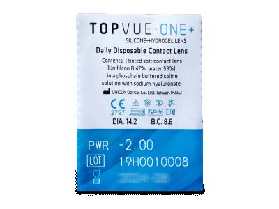 TopVue One+ (5 párov šošoviek) - Vzhľad blistra so šošovkou
