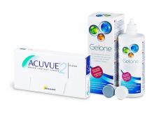 Acuvue 2 (6 šošoviek) + roztok Gelone 360 ml
