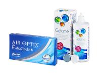 Air Optix plus HydraGlyde (6 šošoviek) + roztok Gelone 360 ml