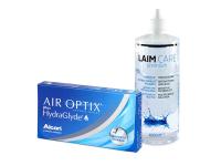Air Optix plus HydraGlyde (6 šošoviek) + roztok Laim-Care 400 ml